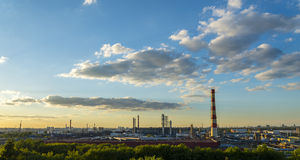 Moscow Oil processing plant Royalty Free Stock Photo