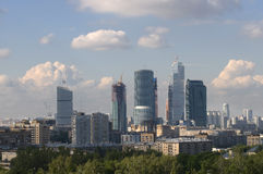 Moscow old and new Royalty Free Stock Photo