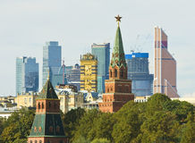 Moscow old and new Stock Images