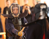 Moscow Open Tournament on Kendo Stock Photography