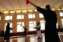 Moscow Open Tournament on Kendo Stock Photos