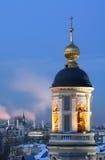 moscow ortodoxt tempel Arkivbild
