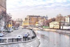 Moscow. Ovchinnikovskaya embankment Stock Images