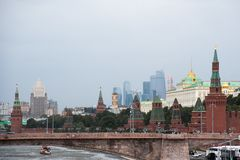Moscow. Panorama of the Moscow Kremlin Stock Images