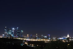 Moscow panorama  night Stock Photography