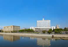Moscow Panorama - White House - center of Russian government - R Royalty Free Stock Image