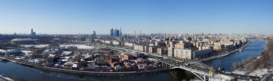 Moscow panoramic view Stock Photography