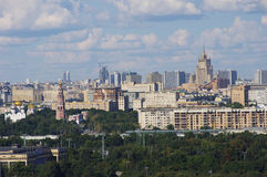 Moscow panoramic view from the top Stock Photography
