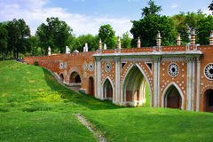 Moscow park Tsaritsyno, bridge Stock Photo