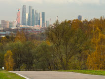 Moscow park and city Stock Photography