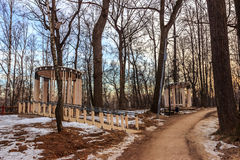 Moscow Park in early spring. Alleys and arbours in a Moscow Park in early spring Royalty Free Stock Photography