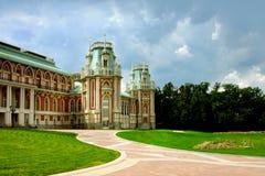 Moscow park Tsaritsyno, big palace royalty free stock photography