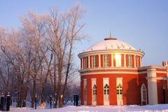 Moscow park Tsaritsyno. Moscow old park palace band of Tsaritsyno Stock Photography