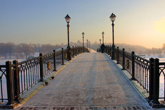 Moscow park Tsaritsyno. Moscow old park palace band of Tsaritsyno Royalty Free Stock Photo