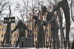 moscow passeio ao inverno de Moscou fotografia de stock royalty free
