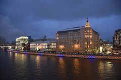 moscow passeio ao inverno de Moscou fotos de stock