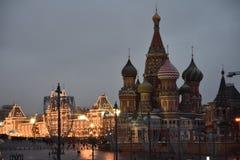 moscow passeio ao inverno de Moscou imagens de stock