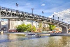 Moscow.  Patriarshy bridge Stock Photo