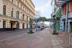 Moscow. Pedestrian street Stock Images