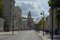Moscow Pjatnitsky street summer sanday. Moscow Pjatnitsky street summer 2014 Stock Image