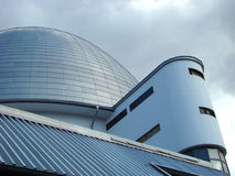 Moscow planetarium. Dome of a building of the Moscow planetarium stock photography