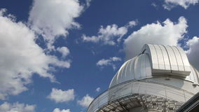 Moscow Planetarium on the background of sky,  Russia stock footage