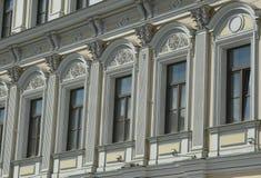 Moscow Pokrovka Street fragmet facade Photo stock