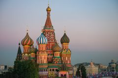 Moscow. Pokrovsky Cathedral (St. Basil's Cathedral) Stock Image