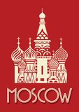 Moscow poster Royalty Free Stock Images