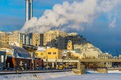 Moscow power station on the Balchug island Royalty Free Stock Photo