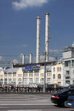 Moscow. The power station in city center. Moscow. The power electrical station in the center of city near Kremlin Stock Photography
