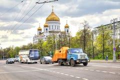 moscow Prechistenskaya invallning Royaltyfri Bild