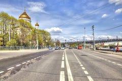 moscow Prechistenskaya invallning Arkivfoto