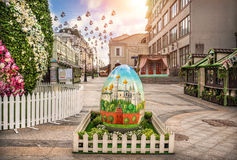 Moscow is preparing for Easter. And large egg Stock Image