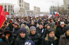 Moscow protest, 24th December 2011 Royalty Free Stock Image