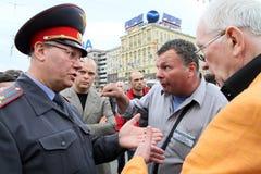 Moscow protester Royaltyfria Foton