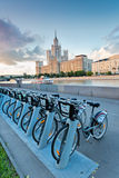 Moscow public bikes Stock Images