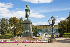 Moscow, Pushkinskaya square Royalty Free Stock Photos