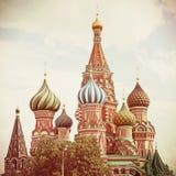 moscow Quadrado vermelho Catedral da manjericão de Saint Imagens de Stock