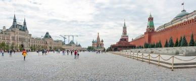 moscow röd fyrkant Fotografering för Bildbyråer
