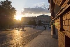 moscow röd russia fyrkant scenisk sikt det finns folk Fotografering för Bildbyråer
