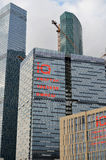moscow RÚSSIA - 23 DE MAIO 2015 O centro de negócios do International de Moscovo MIBC é um dos projetos de construção os maiores  Foto de Stock