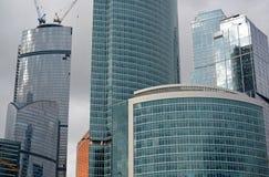 moscow RÚSSIA - 23 DE MAIO 2015 O centro de negócios do International de Moscovo MIBC é um dos projetos de construção os maiores  Foto de Stock Royalty Free