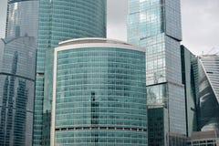 moscow RÚSSIA - 23 DE MAIO 2015 O centro de negócios do International de Moscovo MIBC é um dos projetos de construção os maiores  Imagens de Stock Royalty Free