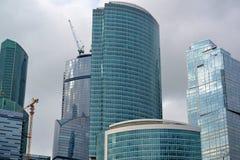 moscow RÚSSIA - 23 DE MAIO 2015 O centro de negócios do International de Moscovo MIBC é um dos projetos de construção os maiores  Fotos de Stock