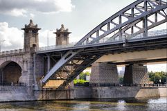 Moscow Railway bridge Royalty Free Stock Photography