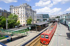 Moscow railway station Royalty Free Stock Photos