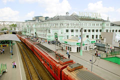 Moscow railway station Royalty Free Stock Photos