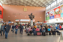 Moscow railway station, St-Petersburg Royalty Free Stock Photography