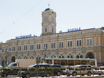 Moscow raiway station in St. Petersburg Stock Photography